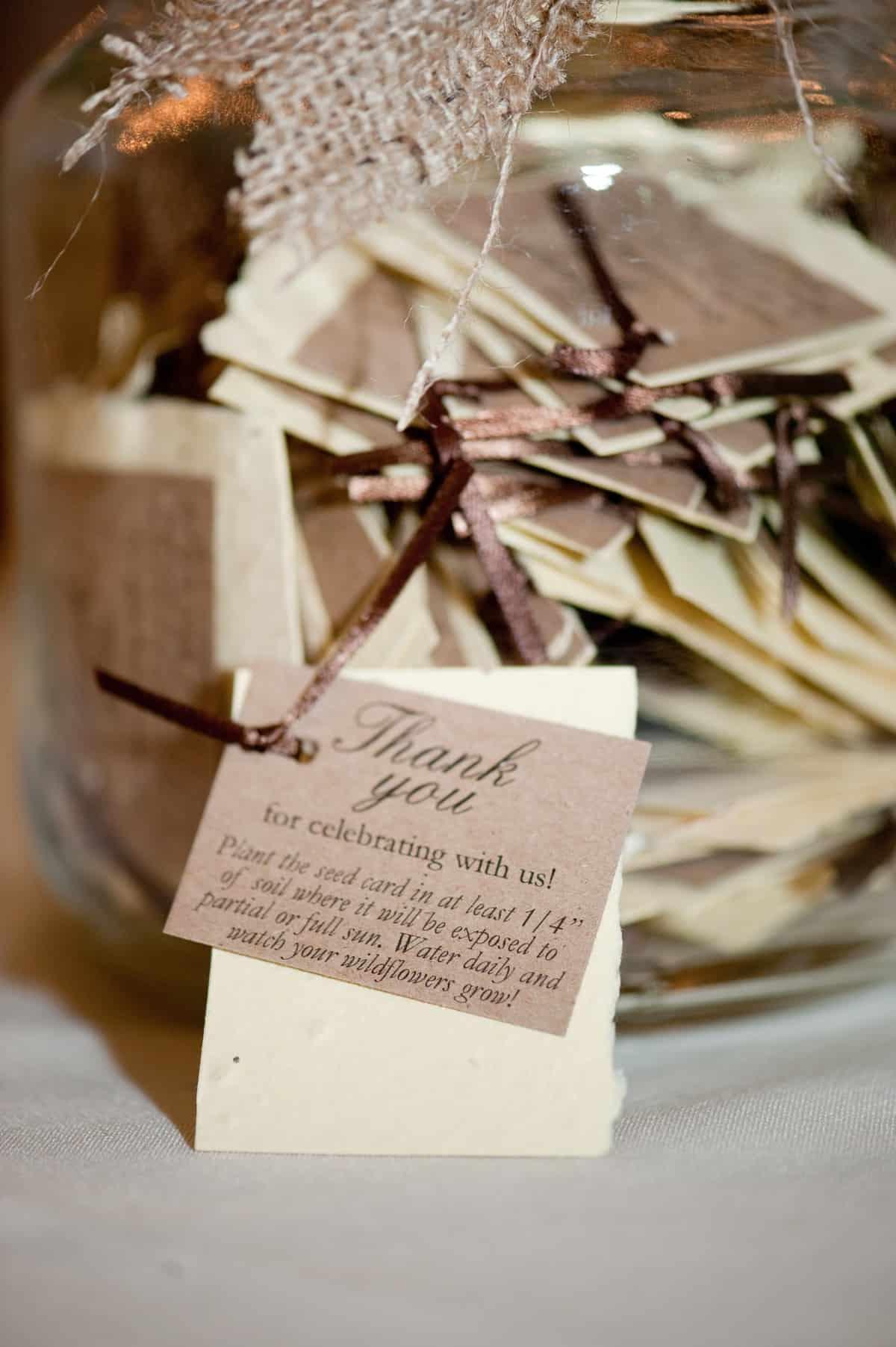Rustic Wedding Favor Ideas