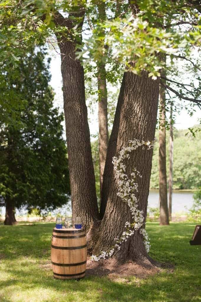 Rustic Wedding Ceremony Decor The First Year