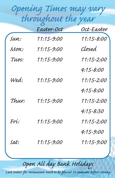 Park Plaice Fish Shop Opening Times