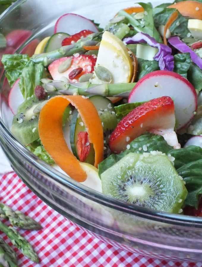 Garden Salad [Vegan, Raw, Gluten-Free, Dairy-Free]