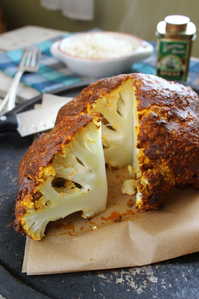 Whole Roasted Curry Cauliflower -- from The Fitchen