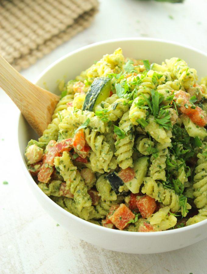 20 Minute Pesto Pasta Salad