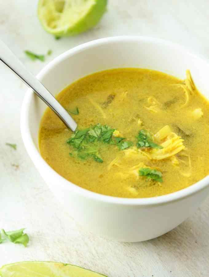 Crockpot Coconut Curry Lime Soup