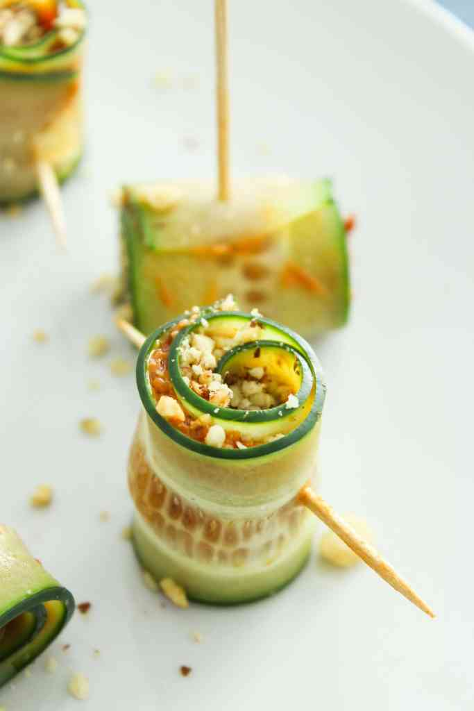 Vegan Cucumber Pinwheels with Sundried Tomato Pesto