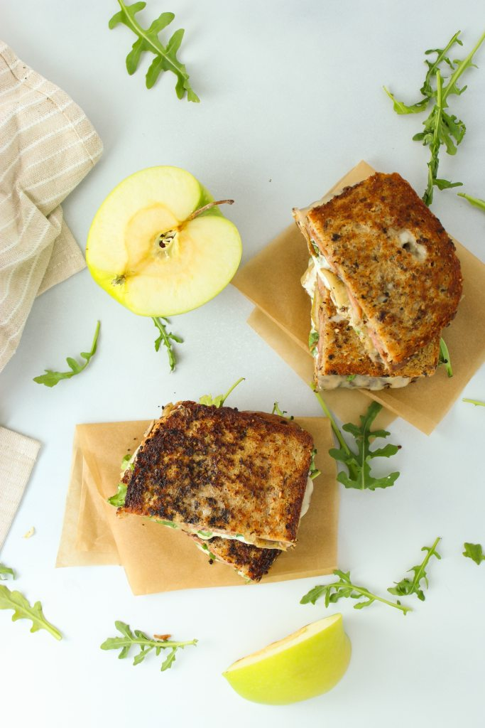 Chicken and Apple Breakfast Melts