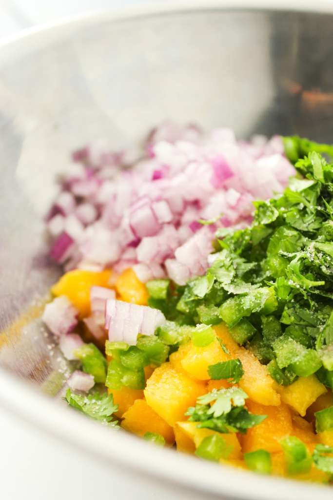 Grilled Mahi Mahi Tacos with Mango Salsa