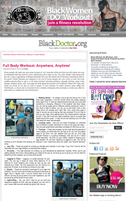 BlackWomenDoWorkout.com | Fitness Feature | October 2012