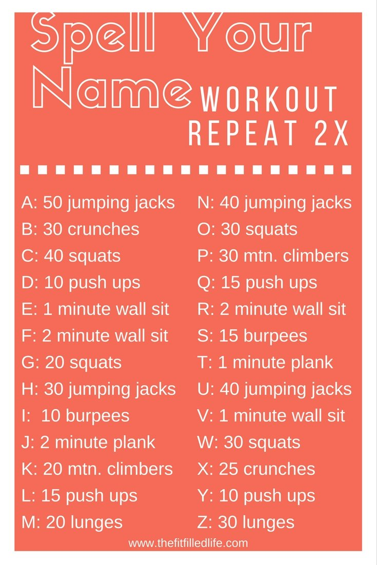 Spell Your Name Workout