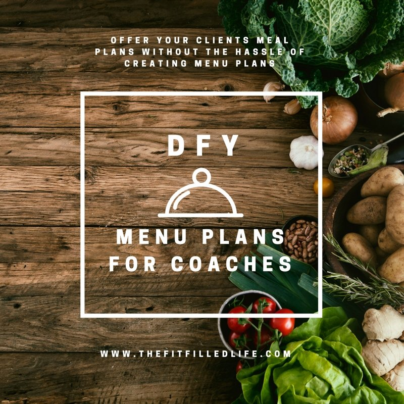 Done for you menu plans for health coaches