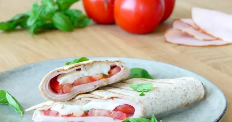 Gegrilde burrito met Italiaanse twist