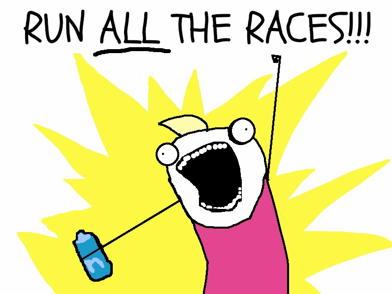 Image result for must run all the races