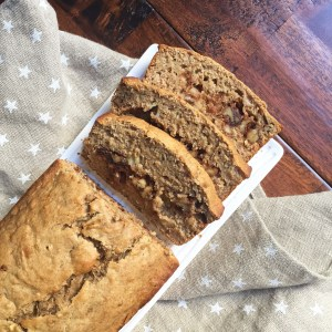 Banana Bread with Walnut Streusel Swirl (Dairy Free)