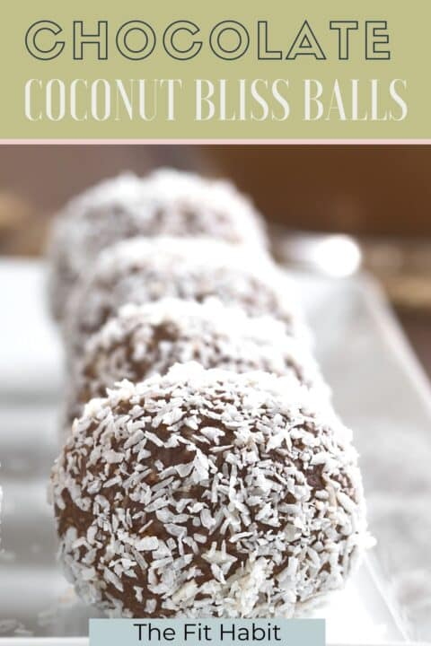 bliss balls chocolate coconut