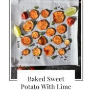 sweet potatoes with lime