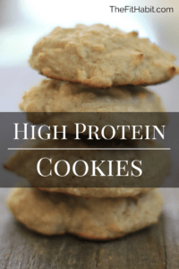 A high protein cookie recipe that's simple to make and SO good! These are a great breakfast grab and go option and they'll freeze really well, too. Gluten and sugar free, they're perfect for a low carb, clean diet.