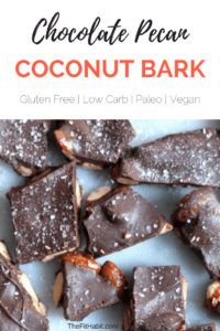 chocolate coconut pecan bark