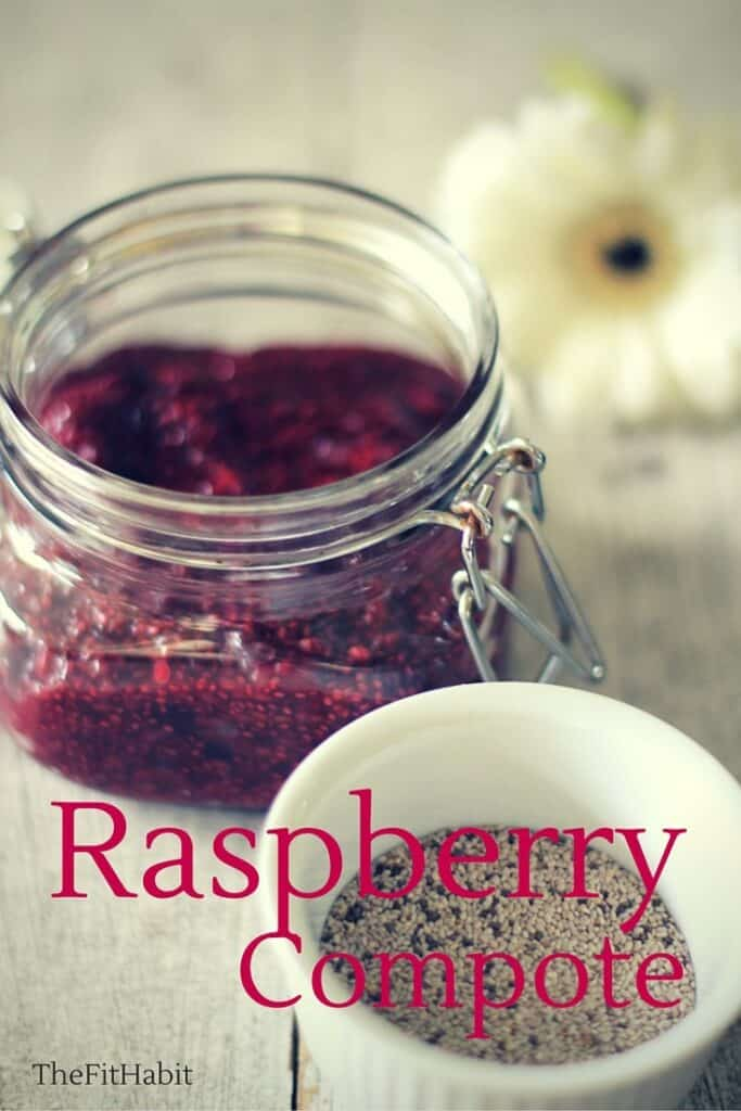 Raspberry compote and chia seeds