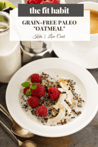 grain free paleo oatmeal - vegan, low carb and keto