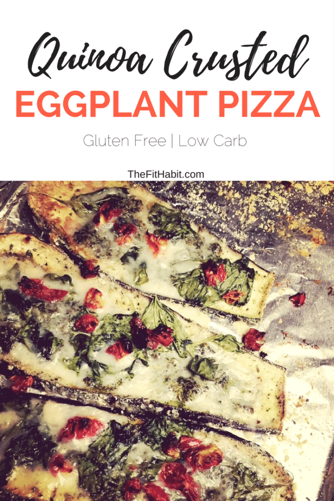 Quinoa Crusted Eggplant pizza