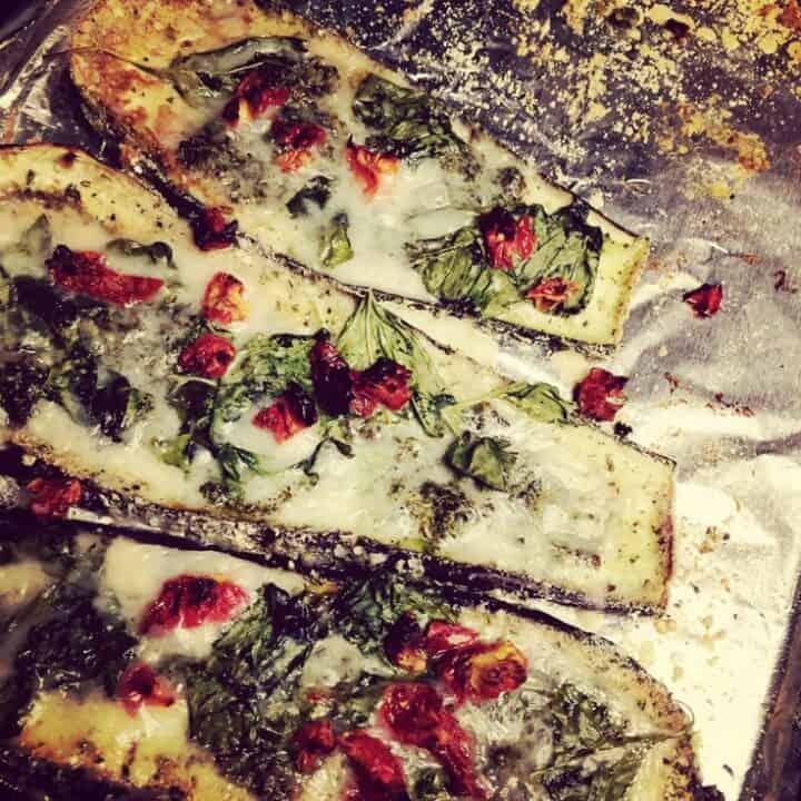 Quinoa-crusted Eggplant Pizza