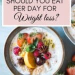 How many meals a day to eat for weight loss (bowl with food)