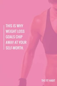 weight loss and self worth