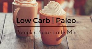 paleo pumpkin spice lattee