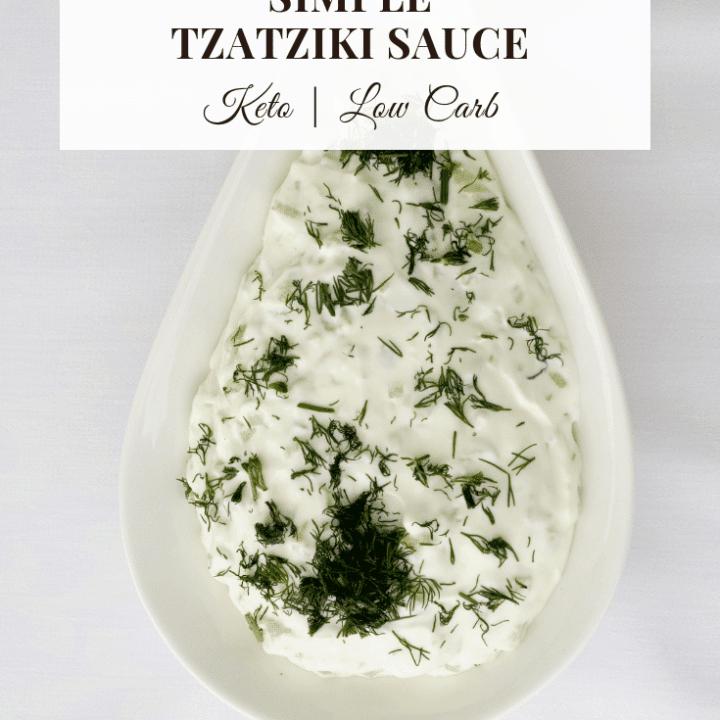 simple TZATZIKI SAUCE