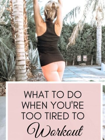 woman stretching too tired to workout