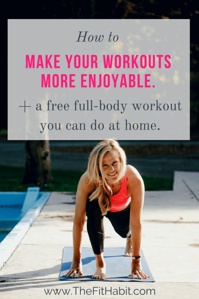 enjoy working out more