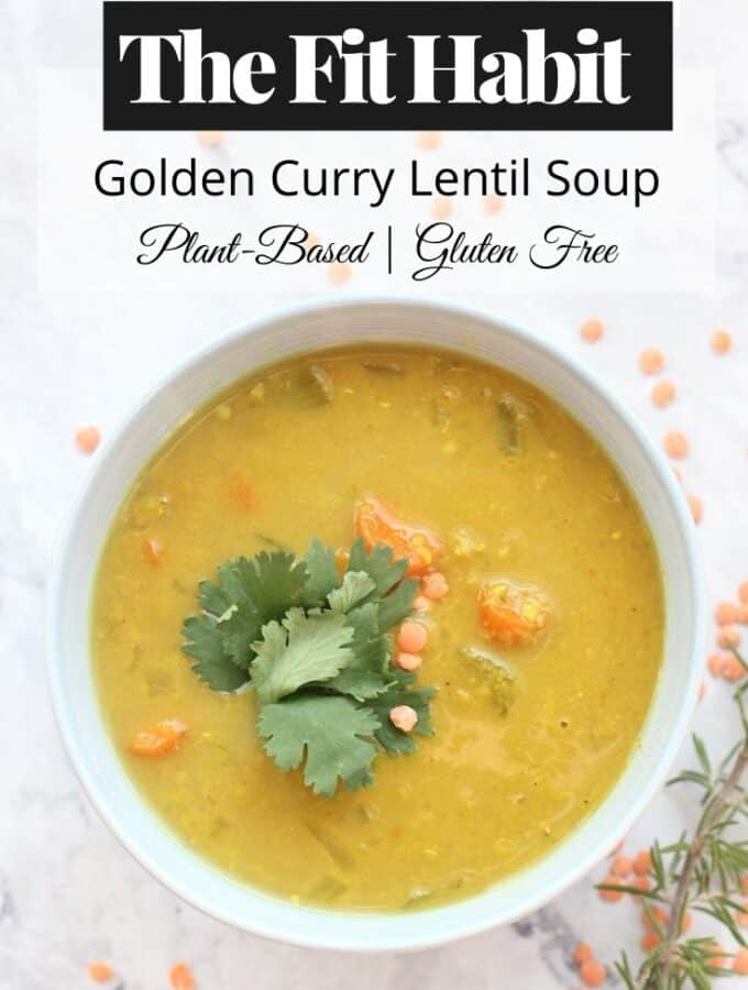 Golden Curry Lentil Soup Recipe   SUPER easy to make. Just throw it in the crock pot and off you go.