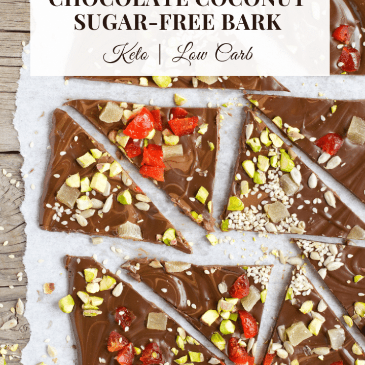 chocolate coconut pistachio bark - low carb & keto