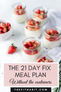 21 day fix meal plan without containers