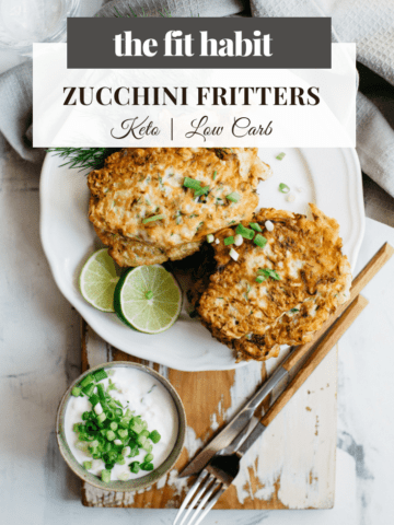 zucchini fritters, low carb, vegan, keto