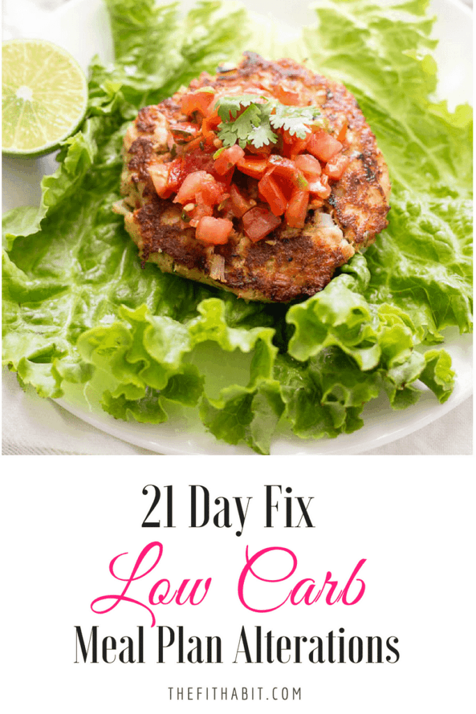 21 day fix low carb meal plan