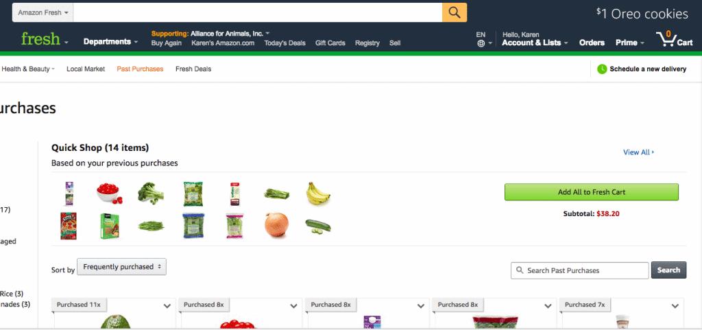 save money amazon fresh