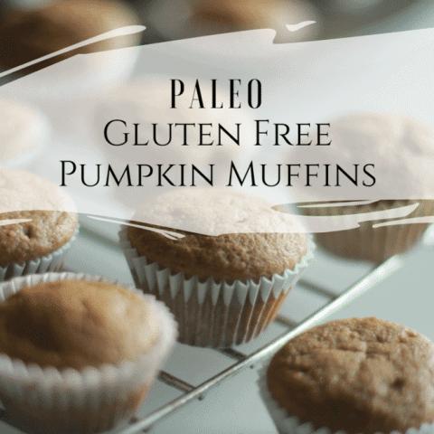 tray of paleo pumpkin muffins