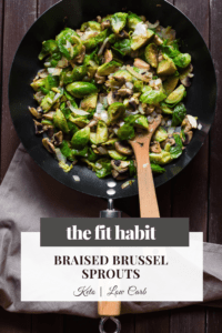 Simple Braised brussel sprouts