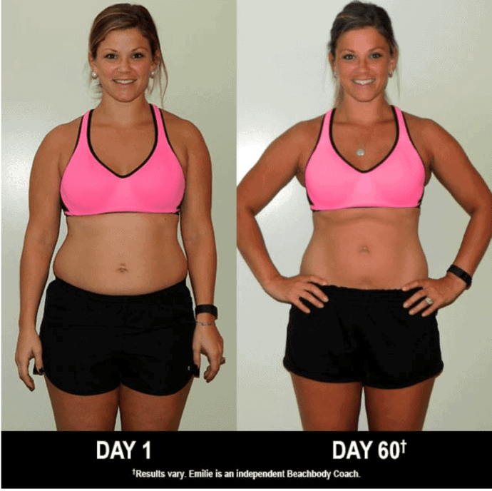 Piyo Results | Before and afters based on a 60 day, low impact workout that you can do at home with minimal equipment.