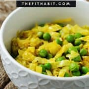 curried cabbage in a bowl