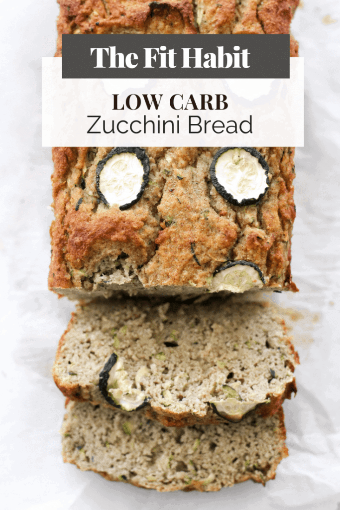 loaf of healthy zucchini bread, sliced.