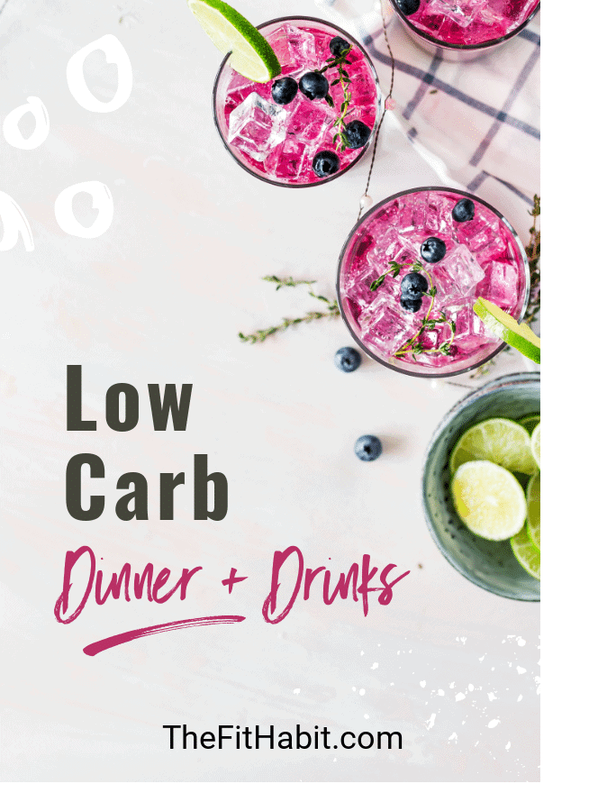 low carb dinner and drink ideas that are healthy