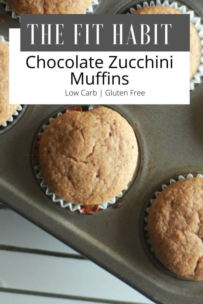 Chocolate Zucchini Muffins | Low carb, sugar free but still every bit as moist and delicious as your traditional muffins.  I make these all the time because they're guilt free!