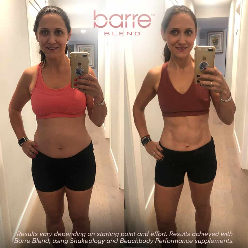 barre blend before and after