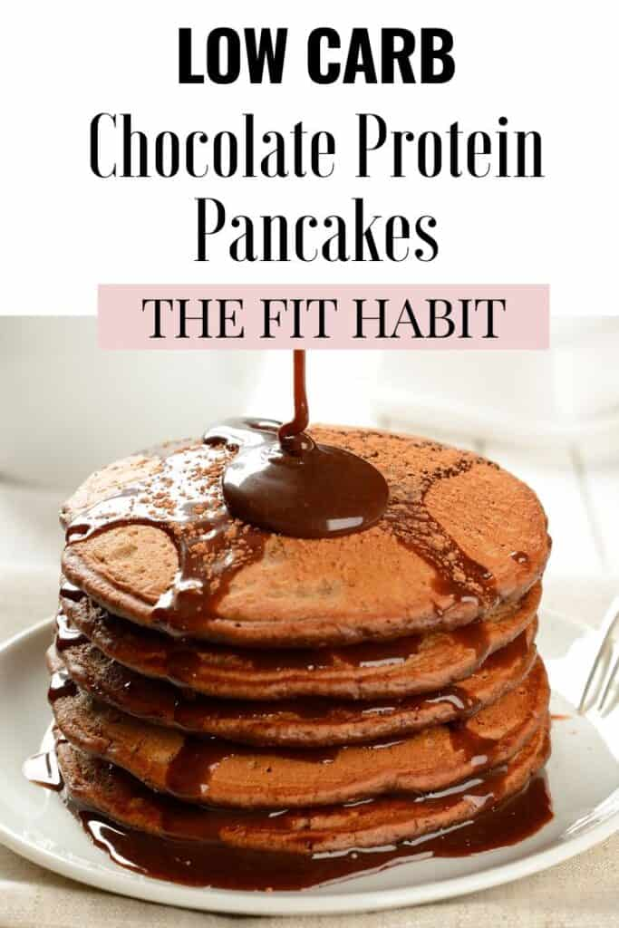 chocolate protein pancakes | A low-carb, high protein breakfast or post-workout meal that never fails to satisfy!