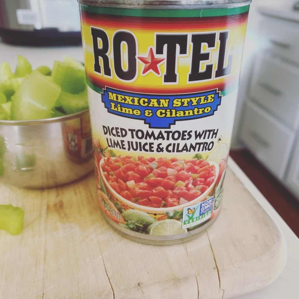 Slow Cooker Chicken Tortilla Soup with Rotel Canned Tomatoes - so easy and good!