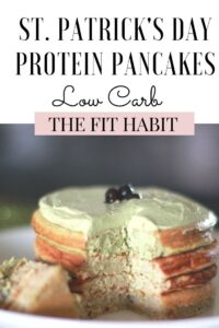 Green Pancakes for St. Patrick's Day made with protein and superfoods. A super healthy treat tastes so good!
