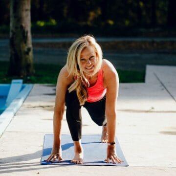 woman doing beginner beachbody program