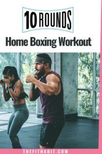 10 rounds workout program man and woman kickboxing