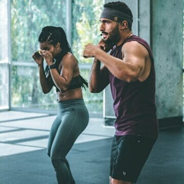10 rounds workout man boxing